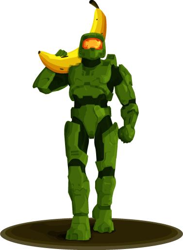 Master Chief Holding a Banana