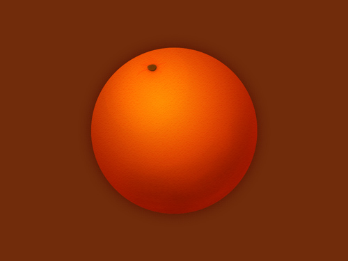 Orange on a Brown background