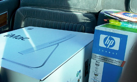 iMac in the back of my car