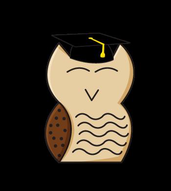 OwlBoy in a Graduation Hat