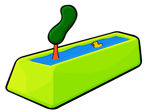 Tree in a Pool with a Duckie